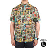 Full Color Frights Button-Up Shirt