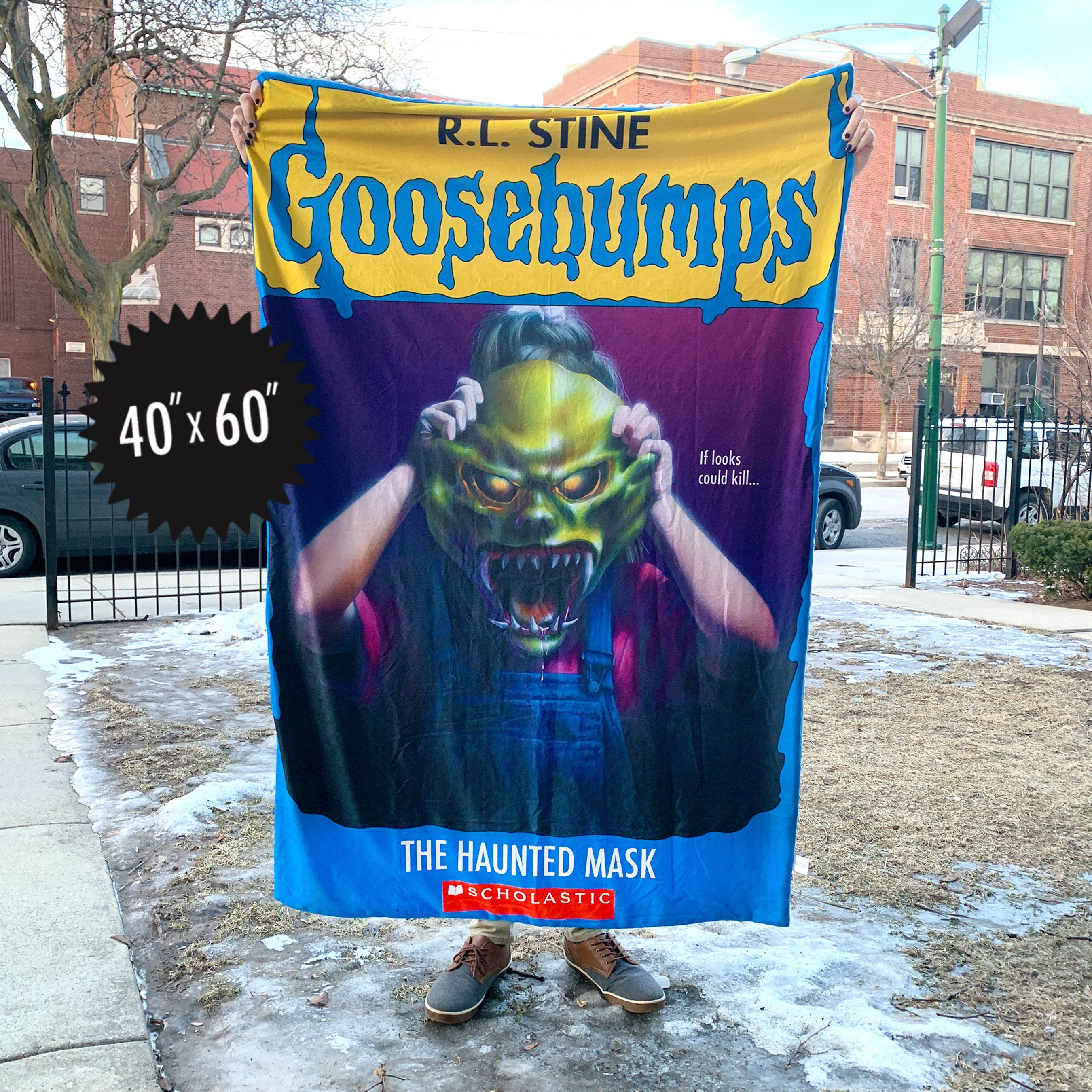 Goosebumps® Haunted Mask Throw Blanket