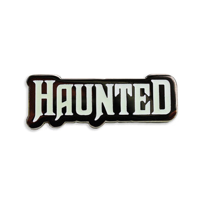 Haunted GID Enamel Pin