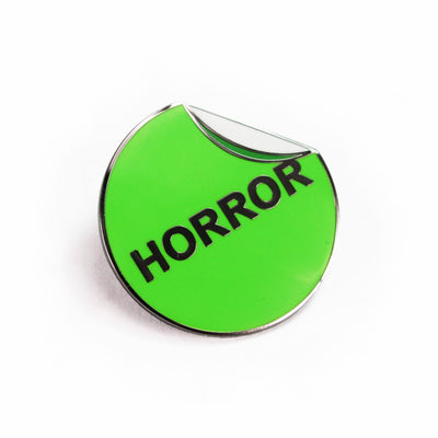 VHS Horror Label Enamel Pin