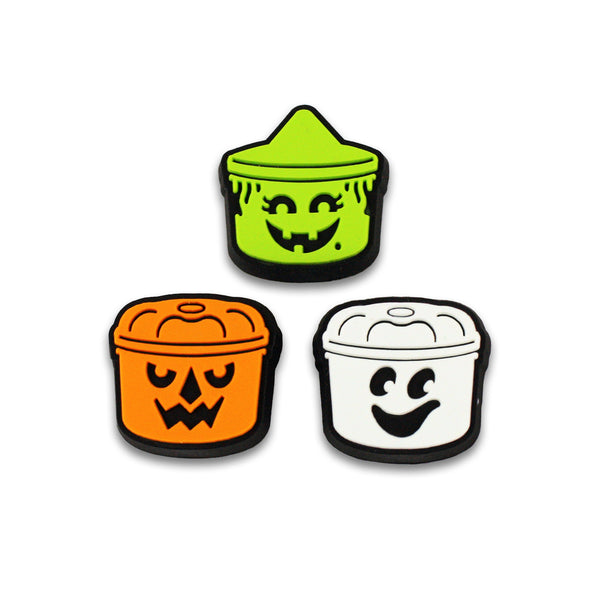 Boo Buckets Pvc Lapel Pin Set Creepy Co