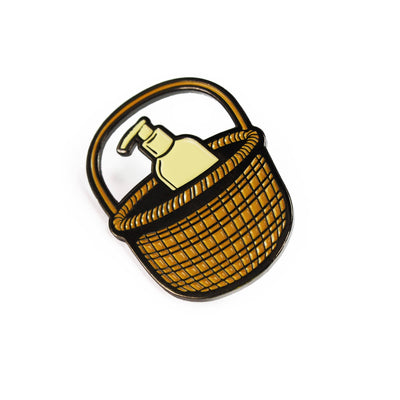 Lotion Basket Enamel Pin