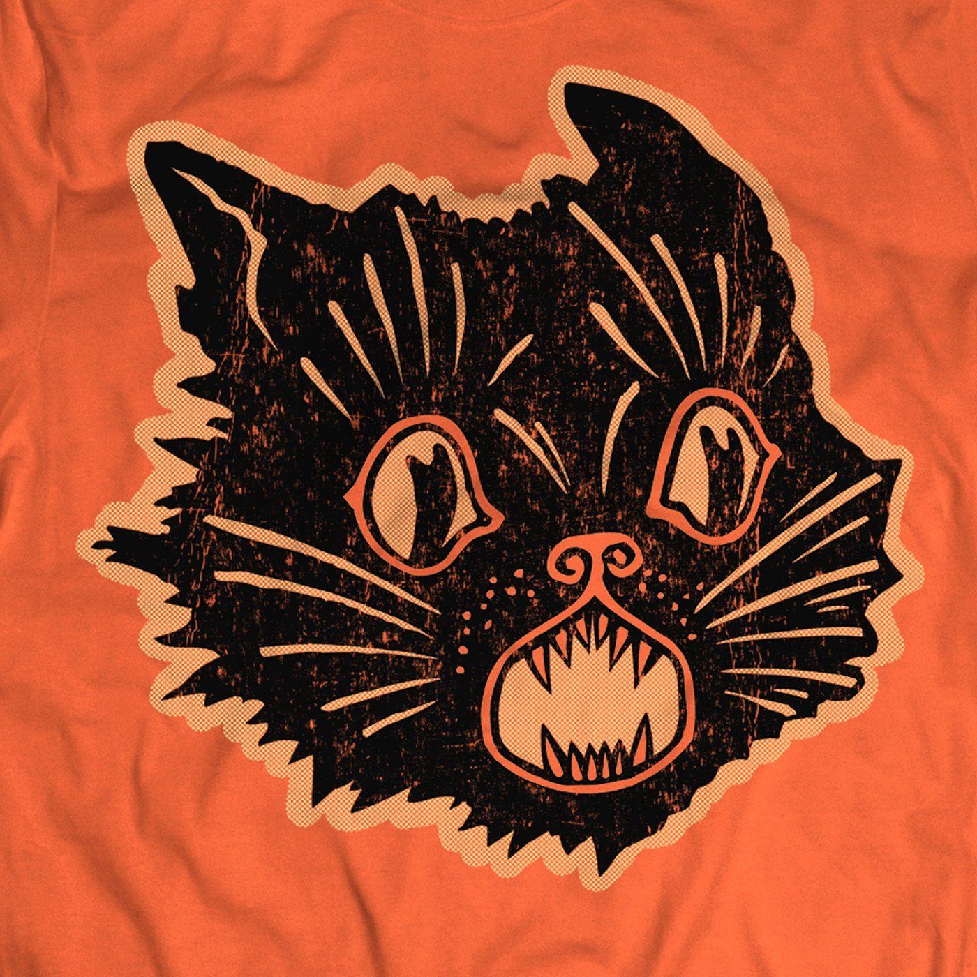 Beistle® Orange Scratch Cat Shirt - Creepy Co.