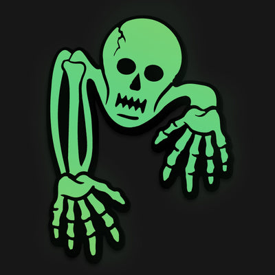 Creeping Skeleton PVC Pin