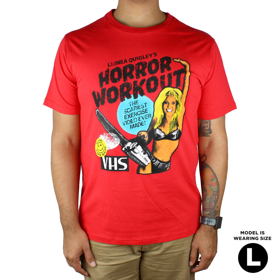 Linnea Quigley Horror Workout Unisex Tee