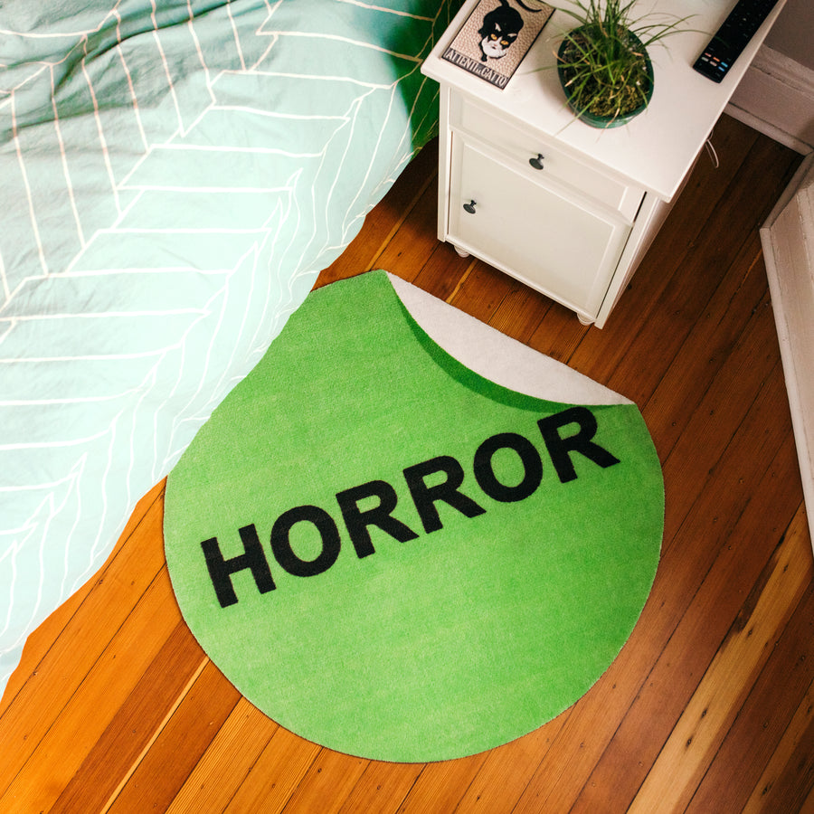 VHS Horror Label Rug