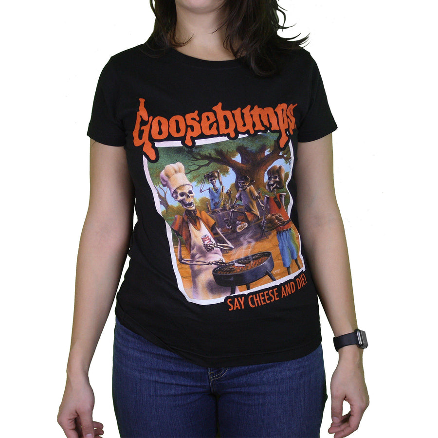 Goosebumps™ Say Cheese and Die! Ladies Tee - Creepy Co.