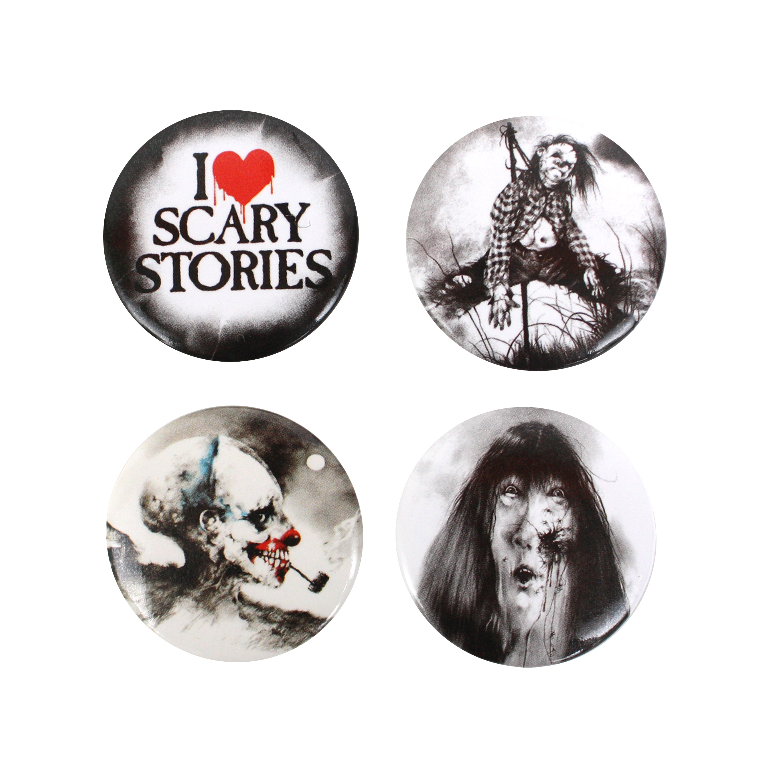 Scary Stories Pinback Button Set
