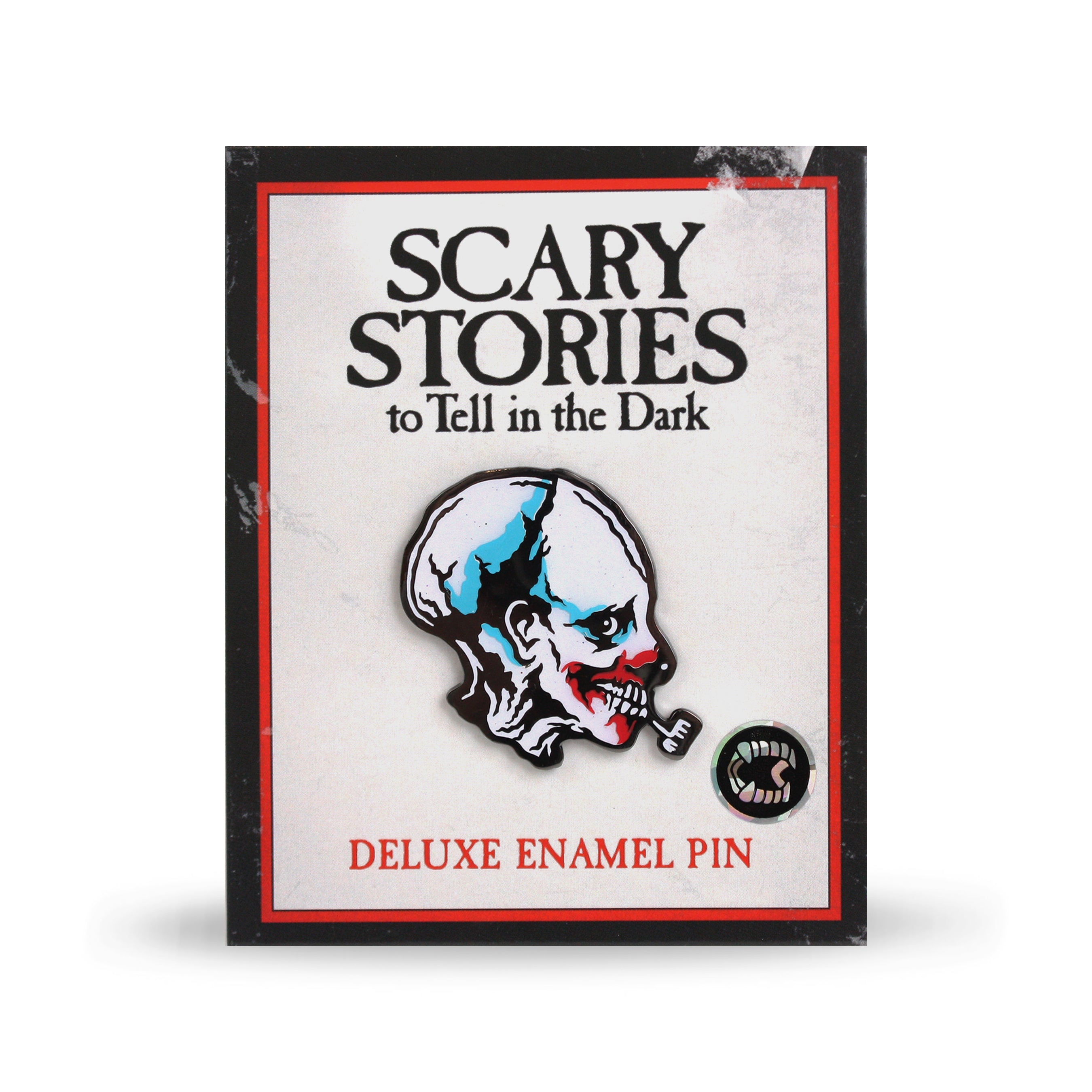 Scary Stories Pipe Clown Enamel Pin
