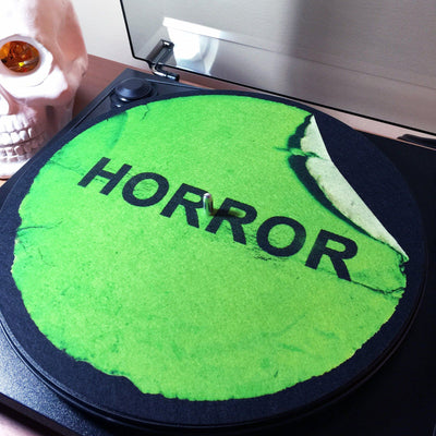 VHS Horror Label Turntable Slipmat - Creepy Co.
