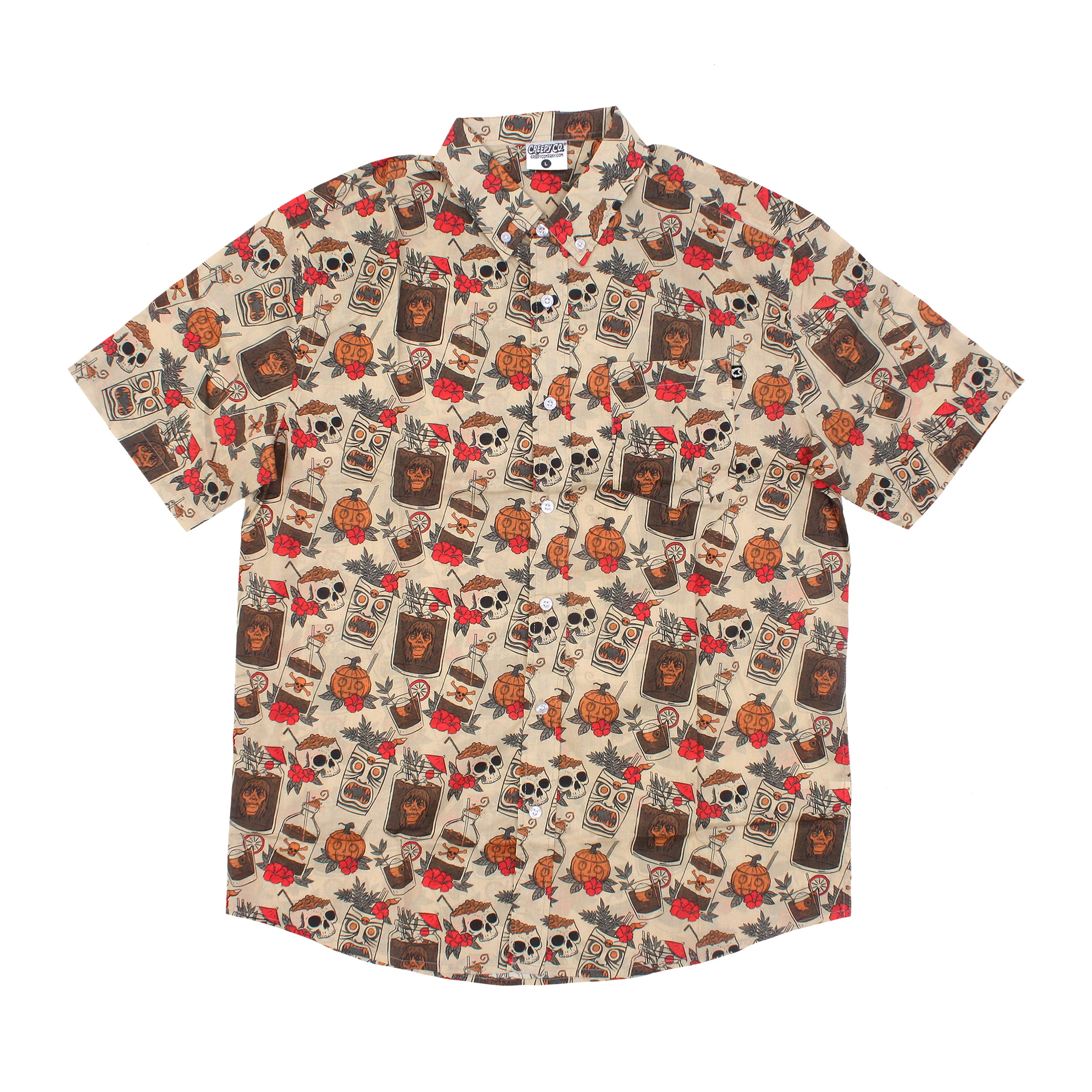 Spooky Drinks Button-Up Shirt