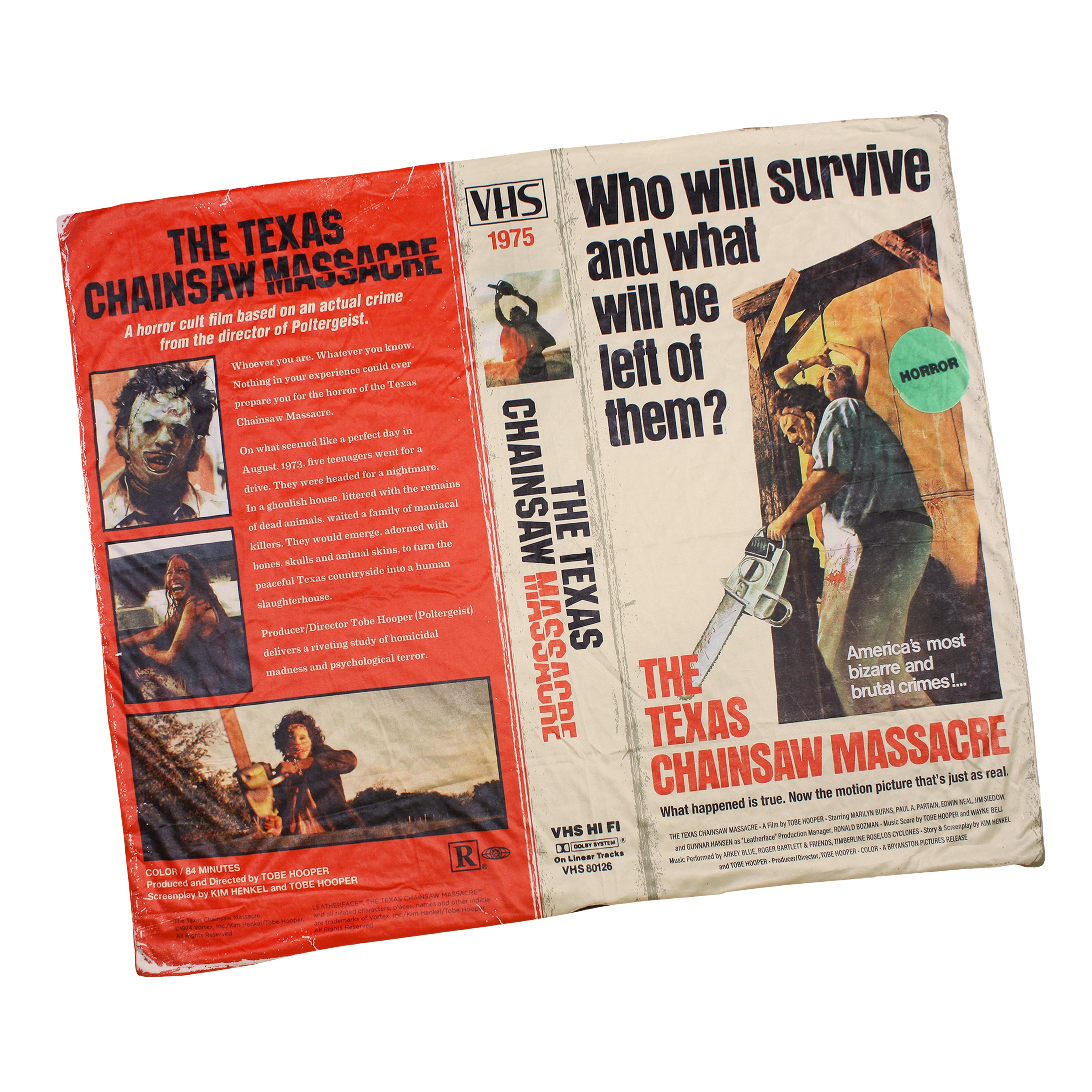 Texas Chainsaw Massacre™ VHS Throw Blanket