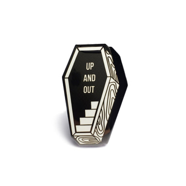 Up and Out Coffin Enamel Pin - Creepy Co.