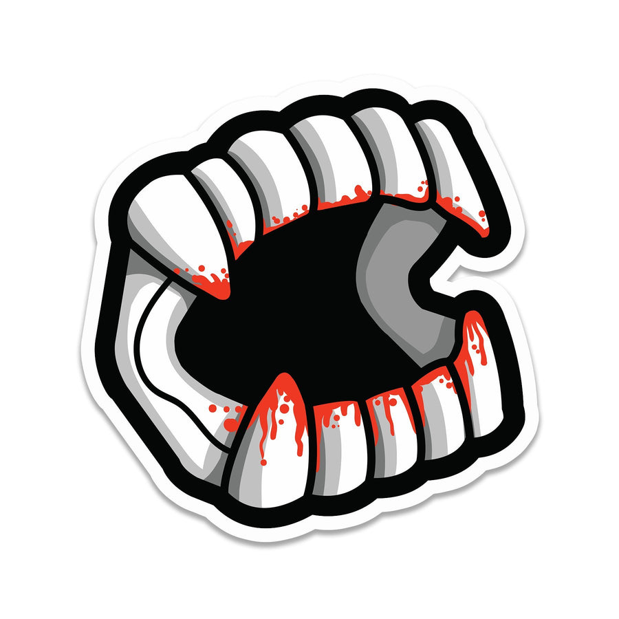 Bloody Vampire Teeth Sticker - Creepy Co.