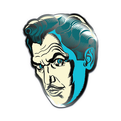 "Vincent Price ""Phosphorescent Pallor"" Enamel Pin"