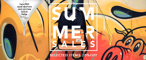 Summer Sales – 20% off on all selected items & free earphone on every purchase!