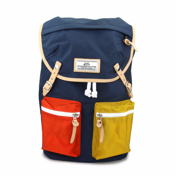 Sunny Backpack - Navy(orange+yellow)