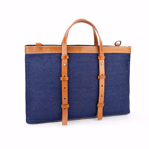Denim Briefcase