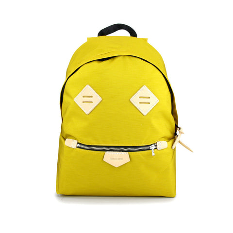 Smiling Face Backpack - Mustard