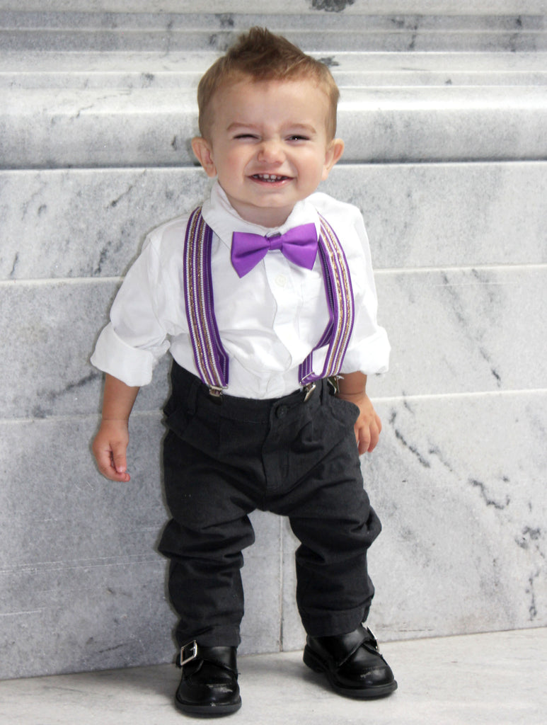 Little Boys Bow Tie and Suspender Sets – The Hangers Boutique