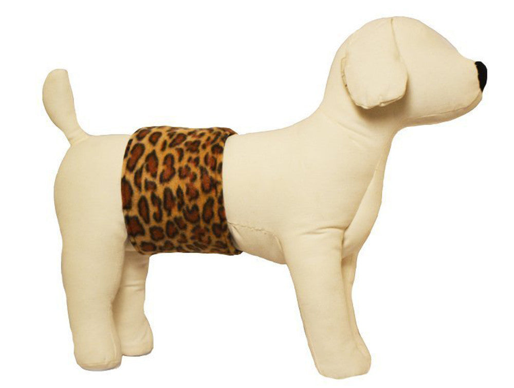Cuddle Bands Belly Bands For Male Dogs - Leopard Print