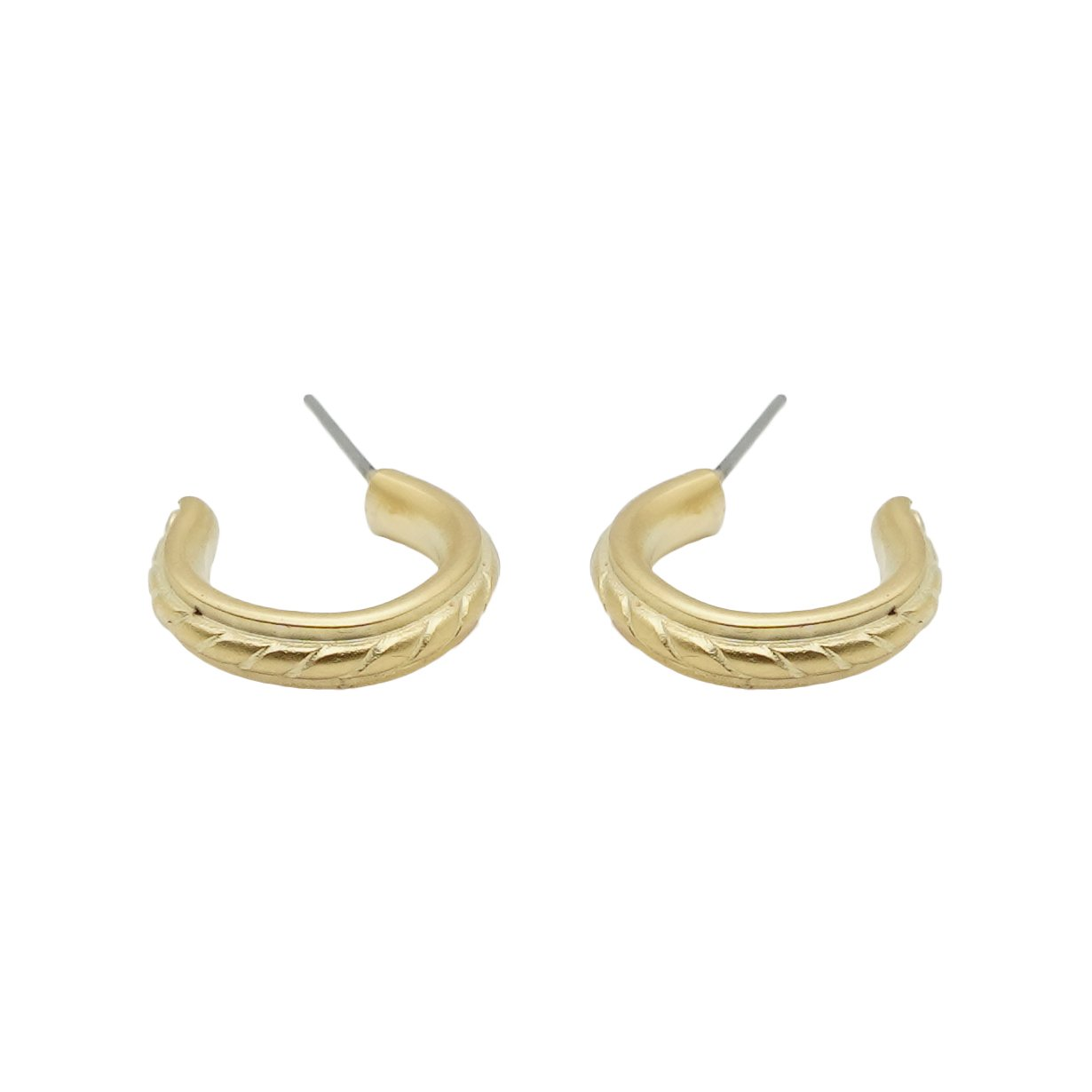 Micro Mini Matte Braid Hoops