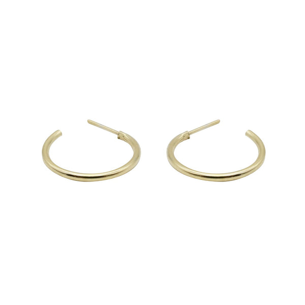 Micro Mini Super Simple Gold Hoops