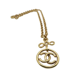 Chanel CC Logo Pendant Necklace