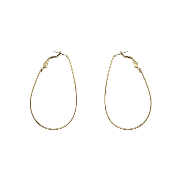 Large Teardrop Matte Hoops