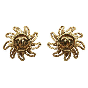 1990s Chanel Twirl Clip Earrings