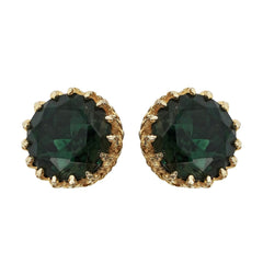 Emerald Crown Studs