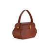 Cognac Mini Box Purse