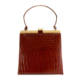 Alligator Cognac Bag