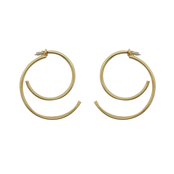 S-Curl Gold Hoops