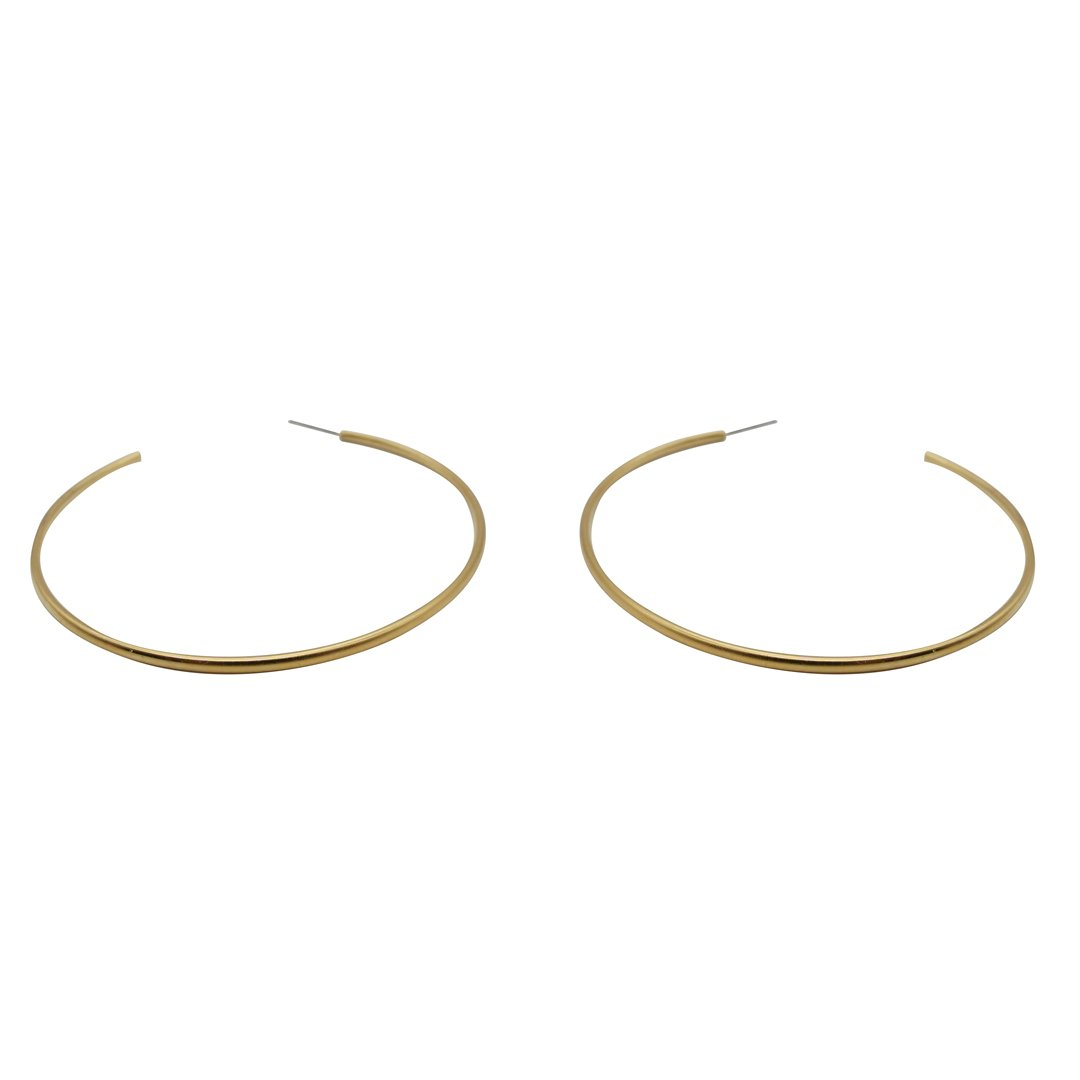 XL Skinny Gold Polish Hoops