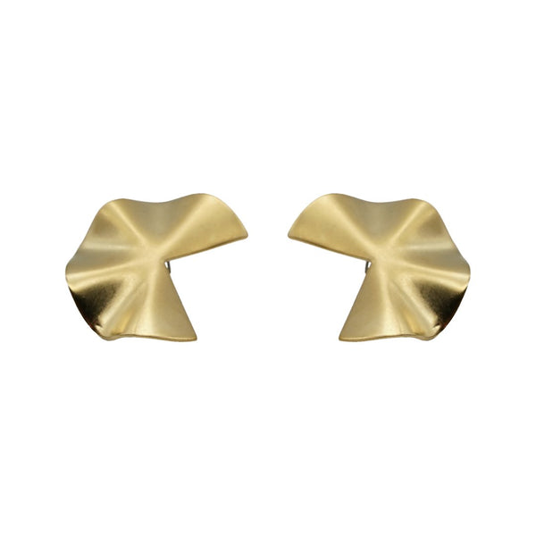 Pacman Gold Matte Earrings
