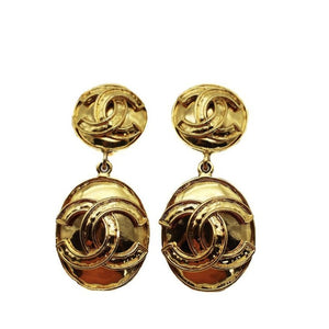1994 Chanel Oval Drop Earrings