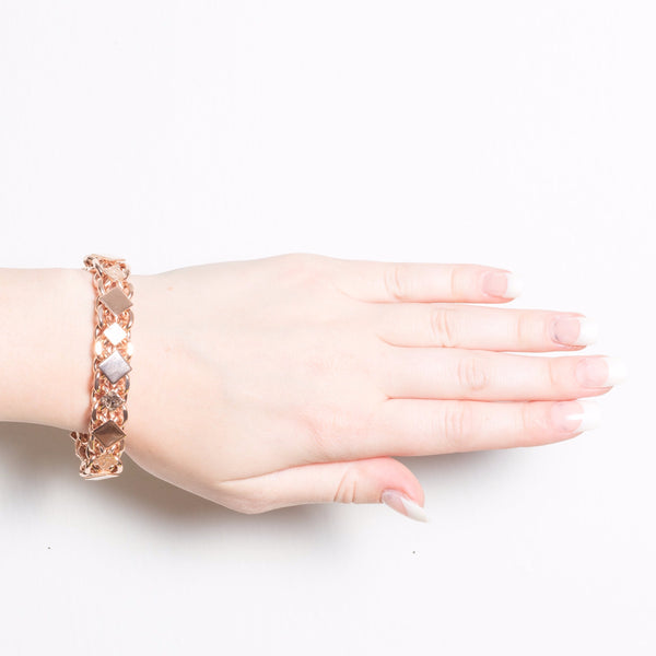 Rose Gold Diamond Panel Bracelet