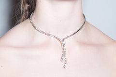 Crystal Drop Lariat Necklace