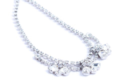 Crystal Adjustable Collar Necklace Weiss