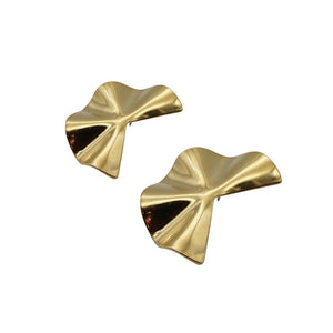 Pacman Gold Polish Earrings
