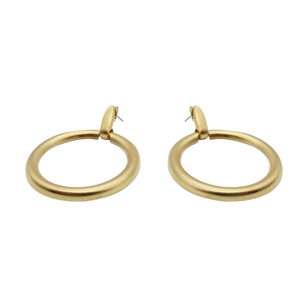Chic Gold Matte Hoops