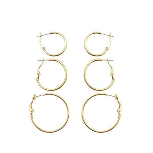 Vintage 1970s Egyptian Gold Hoop Bundle