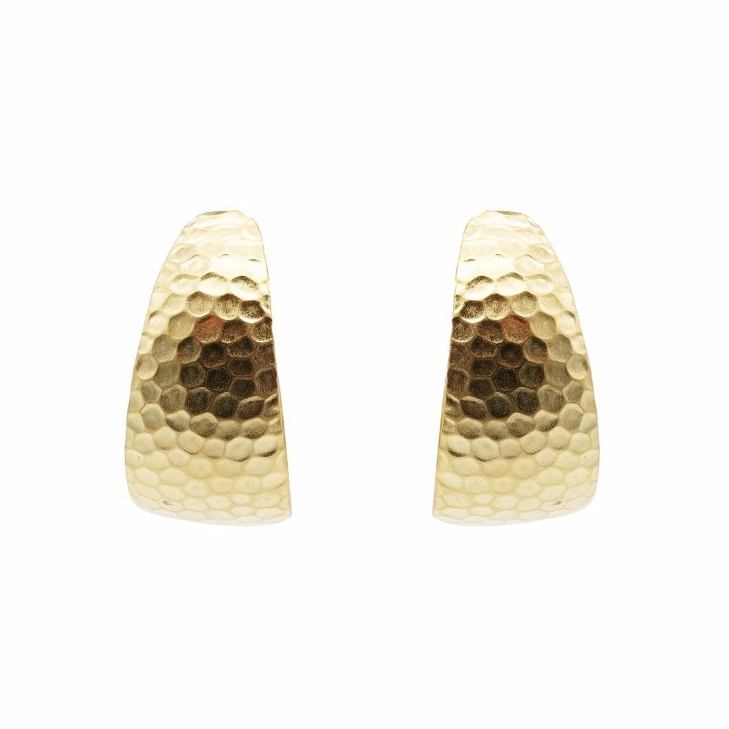 Honey textured hoop Earring
