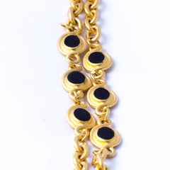 Matte Gold Beaded Opera Necklace