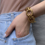1970s Gold Plated Nugget Bracelet