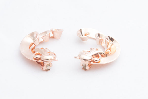 Rose Gold Fancy Crawl Clips