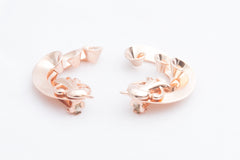 Rose Gold Fancy Crawl Clip Earring