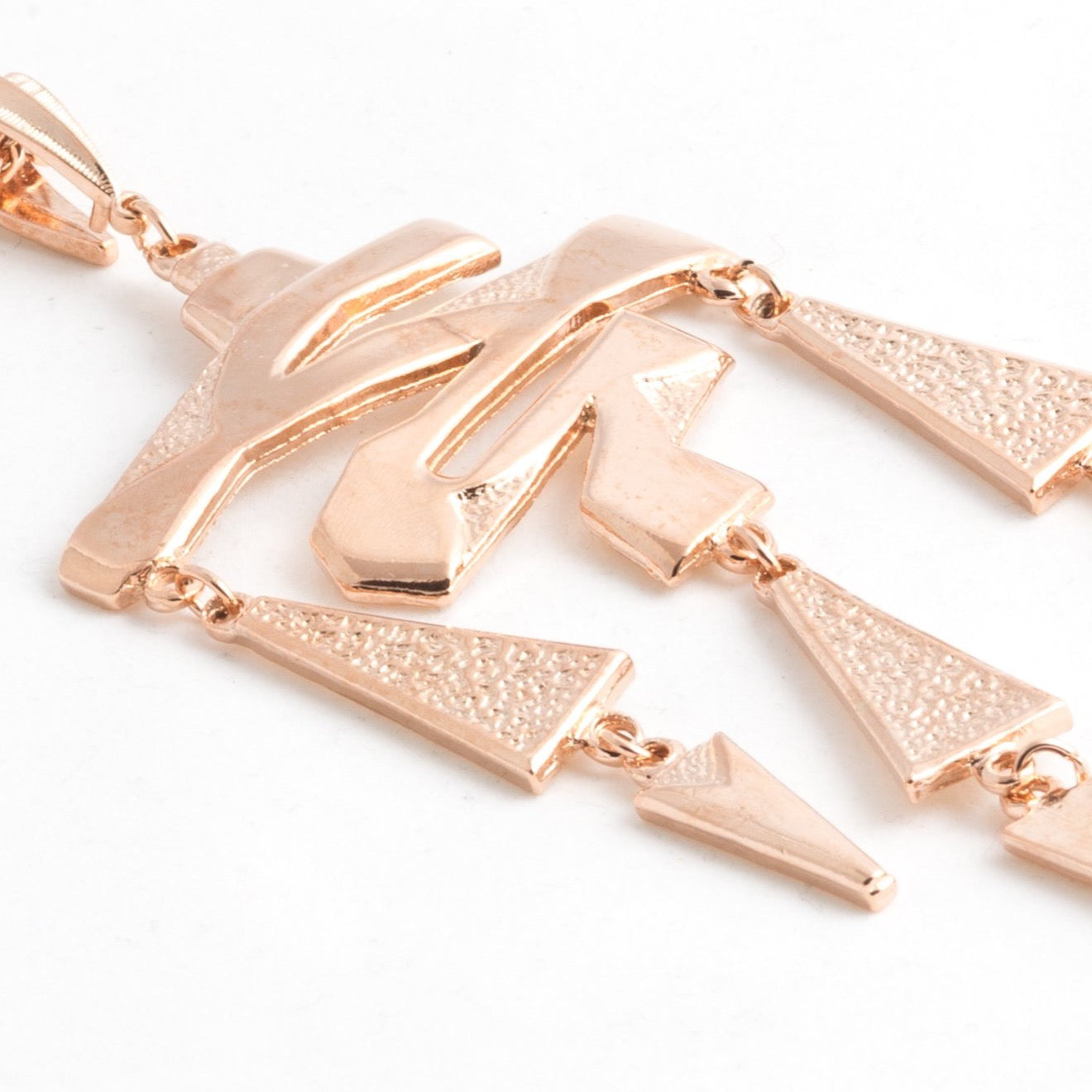 Rose Gold Geometric Pendant