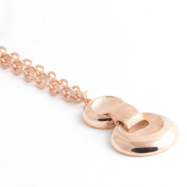 Rose Gold Textured Pendant